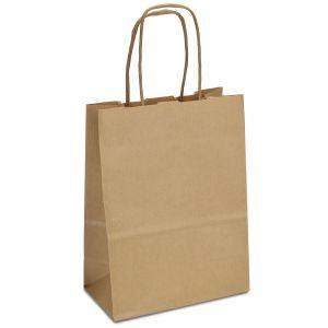 крафт пакет коричневий з крученими ручками 15*08*20