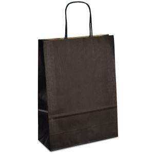 Крафт-пакет 18x08x25 чорний з крученими ручками - Фото - 1