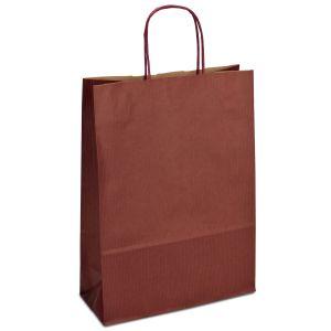 крафт пакет з крученими ручками бордовий 23х10х32
