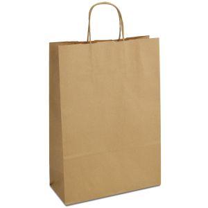 крафт пакет коричневий з крученими ручками 23х10х32