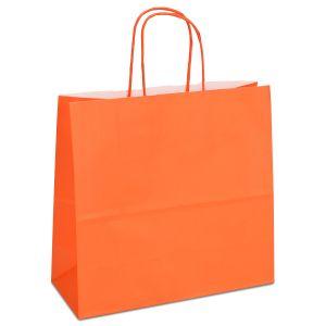 крафт пакет з крученими ручками оранжевий 25х11х24