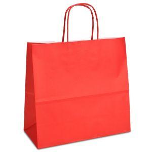 Крафт-пакет 25x11x24 червоний з крученими ручками - Фото - 1
