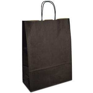 крафт пакет з крученими ручками чорний 32х13х42,5