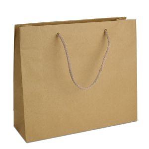 ламінований пакет з ручками коричневий 32х10х27