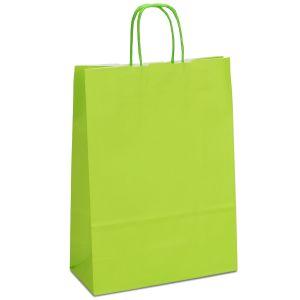 крафт пакет з крученими ручками світло-зелений 32х13х42,5
