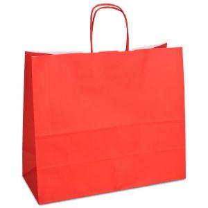 крафт пакет з крученими ручками червоний 32х13х28
