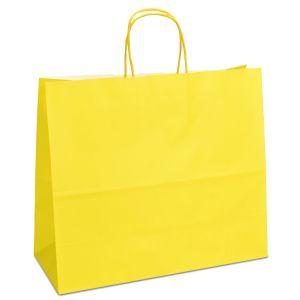 крафт пакет з крученими ручками жовтий 32х13х28
