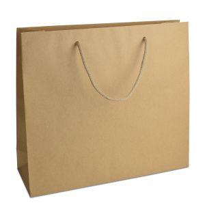 ламінований пакет з ручками коричневий 42х13х37