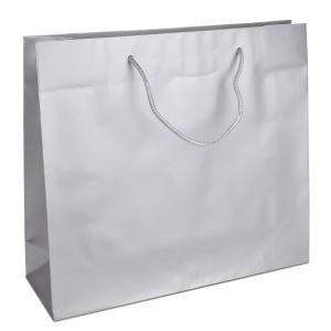 Паперовий пакет 42х13х37 сріблястий з ручками - Фото - 1