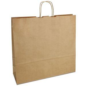 Крафт-пакет 44х14х42,5 коричневий з крученими ручками - Фото - 1
