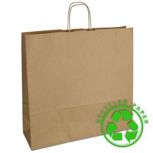 паперовий крафт пакет з крученими ручками 44х14х42,5