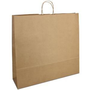 крафт пакет з крученими ручками коричневий 54х14х50