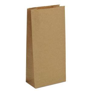 крафт пакет без ручок з пласким дном 9х6,5х21