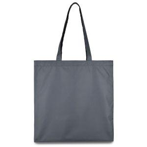 еко сумка з плащової тканини сіра 38х40 см