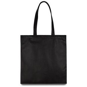 еко сумка зі спанбонду чорна
