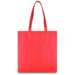 еко сумка зі спанбонду червона