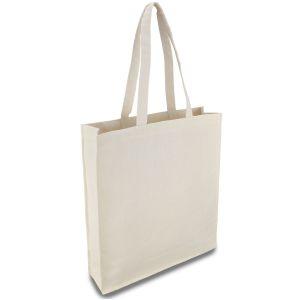 еко сумка з бавовни з дном, шоппер 35х10х42 см