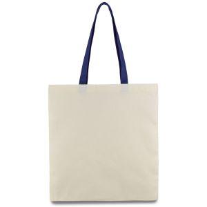 еко сумка з бавовни з синіми ручками