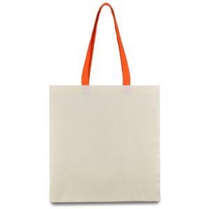 еко сумка з бавовни з оранжевими ручками
