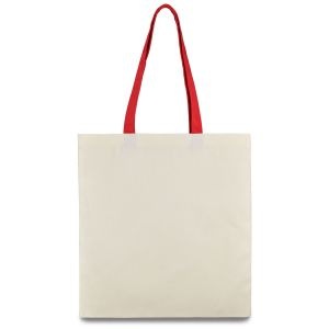 еко сумка з бавовни з червоними ручками