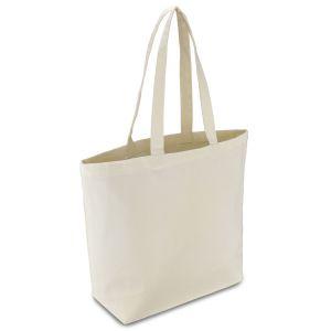 еко сумка з бавовни з дном, шоппер 42х12х35 см