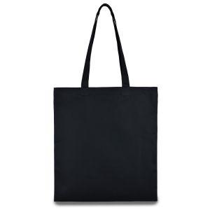 еко сумка з бавовни, чорна 35х41 см