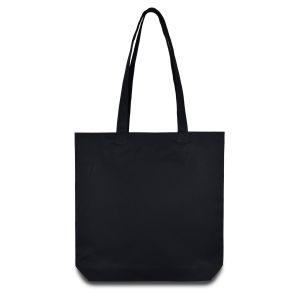 еко сумка з бавовни з дном, шоппер, чорна 35х35х7 см