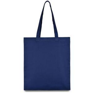 еко сумка з бавовни синя 35х41 см