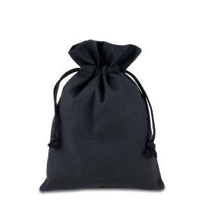 Мішок із бавовни чорний (15х21 см) - Фото - 1