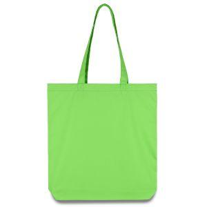Еко сумка зелена із напівсинтетичної тканини (38х7х40 см)  - Фото - 1