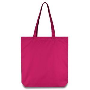 еко сумка із напівсинтетичної тканини рожева 38х7х40 см