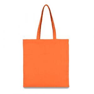 еко сумка з бавовни помаранчева 38х40 см