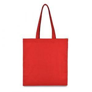 еко сумка з бавовни червона 38х40см