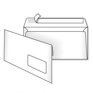 поштовий конверт Е65 з вікном скл