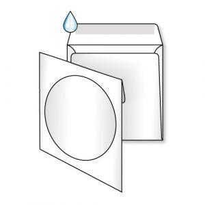 пакет под CD білий з вікном
