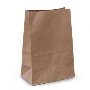 крафт пакет без ручок з пласким дном 19х12х29