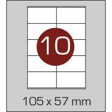 Етикетки самоклеючі (105 х 57 мм) - 10 шт. на  А4, 100 аркушів в  картонній упаковці