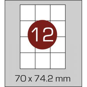 Етикетки самоклеючі на А4 12 шт