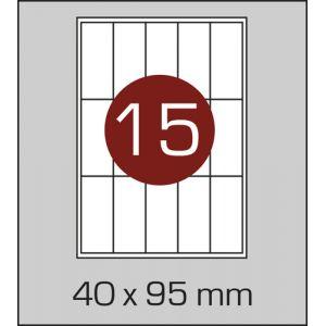 Етикетки самоклеючі на А4 15 шт