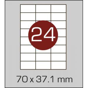 Етикетки с24 штамоклеючі на А4