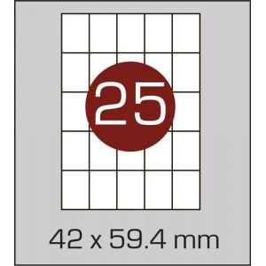 Етикетки самоклеючі на А4 25 шт
