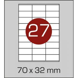 Етикетки самоклеючі на А4 27 шт