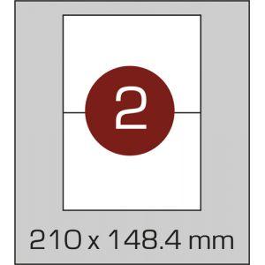Етикетки самоклеючі на А4 2 шт