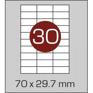 Етикетки самоклеючі на А4 30 шт