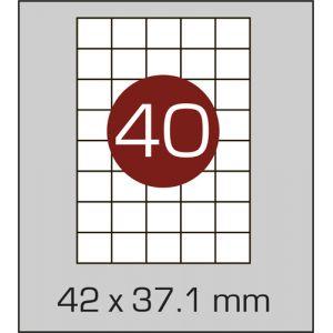 Етикетки самоклеючі на А4 40 шт