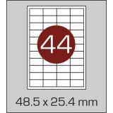 Етикетки самоклеючі (48,5 х 25,4 мм) - 44 шт. на А4, 100 аркушів в картонній упаковці