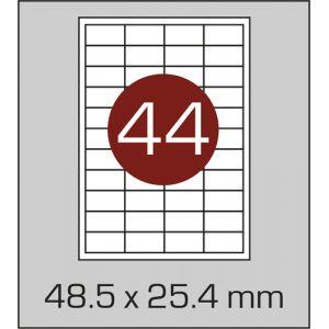 Етикетки самоклеючі на А4 44 шт