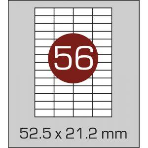 Етикетки самоклеючі на А4 56 шт