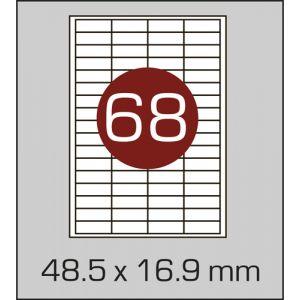 Етикетки самоклеючі на А4 68 шт