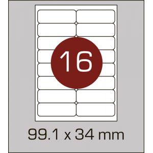 Етикетки самоклеючі на А4 16 шт